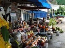 露天市场,琅勃拉邦,老挝 库存图片