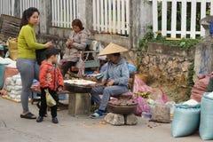 露天市场,琅勃拉邦,老挝 免版税库存照片