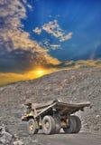 露天开采的铁矿 库存照片