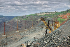 露天开采的铁矿 库存图片