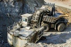 露天开采矿机械 库存图片