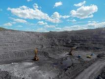 露天开采矿矿,排序的品种,开采的煤炭,农业硬煤,煤炭工业 库存照片