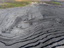 露天开采矿矿,排序的品种,开采的煤炭,农业硬煤,煤炭工业 免版税图库摄影