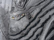 露天开采矿矿,排序的品种,开采的煤炭,农业硬煤,煤炭工业 库存图片
