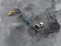 露天开采矿矿,排序的品种,开采的煤炭,农业 图库摄影