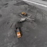 露天开采矿矿,排序的品种,开采的煤炭,农业 库存照片