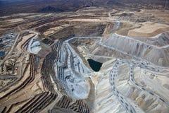 露天开采矿铜矿 免版税库存图片