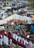 露天洗衣店,孟买 库存照片