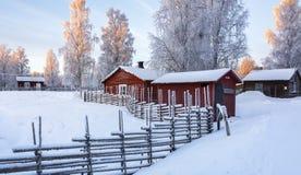 露天musem在Gammelstad,瑞典 库存照片