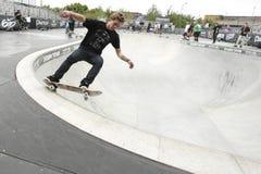 露水赞成溜冰者浏览 库存图片