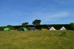 露营地帐篷 库存图片