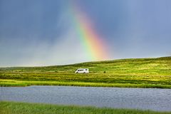 露营车在挪威 图库摄影
