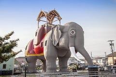 露西大象在马盖特新泽西 免版税库存照片