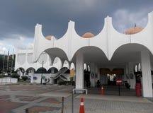 霹雳州状态清真寺在怡保,霹雳州,马来西亚 免版税图库摄影