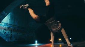 霹雳舞芭蕾舞蹈艺术表现慢动作 股票视频