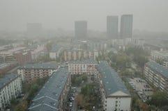阴霾大气污染在北京 免版税库存图片