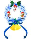 青圣诞节的花圈- 库存图片