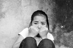 青少年与创伤 库存照片