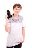 青少年与照相机 库存图片