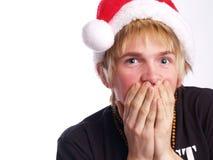青少年低劣的圣诞老人 库存图片