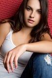 青少年偶然的女孩 免版税图库摄影
