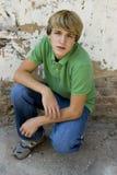 青少年可爱的男孩 库存照片