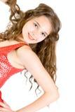 青少年女孩可爱的微笑 库存图片