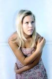 青少年女孩模型的射击 免版税库存图片