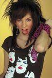 青少年女孩的庞克摇滚乐 免版税库存图片