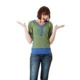 青少年女孩的纵向 免版税图库摄影