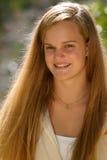 青少年女性的微笑 库存图片