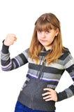 青少年恼怒的女孩 图库摄影