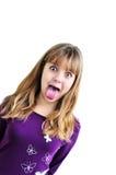 青少年滑稽的女孩 图库摄影
