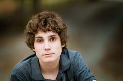 青少年男孩的特写镜头 免版税图库摄影