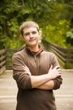 青少年男性的纵向 免版税库存照片