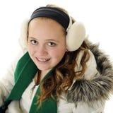 青少年的冬天 免版税库存照片