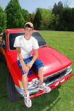 青少年的卡车 免版税图库摄影