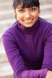 青少年的印第安女孩 免版税库存图片
