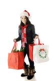 青少年的圣诞节顾客 免版税库存图片