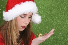 青少年的圣诞节 免版税库存图片