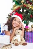 青少年的圣诞节 库存图片
