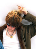 青少年的头发 库存图片