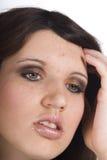 青少年的头疼 免版税库存照片