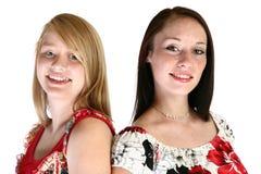 青少年的姐妹 免版税库存图片