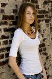 青少年的时装模特儿 免版税库存图片