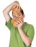 青少年的曲奇饼对负 免版税库存图片