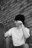 青少年的溜冰者 免版税库存照片