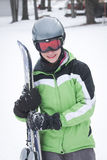 青少年的滑雪者 免版税图库摄影