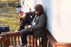 青少年的独来独往的人 库存图片
