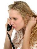 青少年的电话 免版税库存照片
